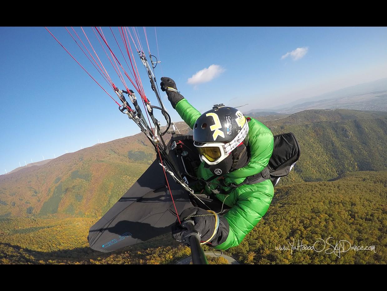 Есенен полет с парапланер в района на вр. Бузлуджа